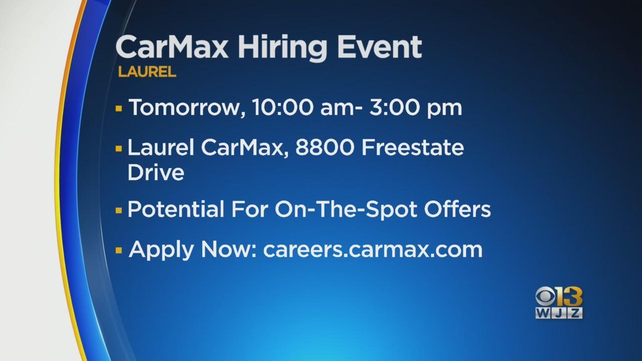 Job Alert: CarMax To Host Hiring Event Thursday