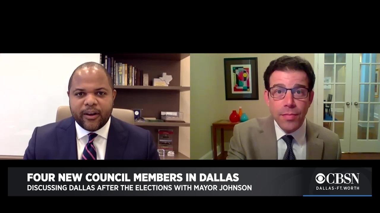 Dallas Mayor Eric Johnson Discusses City's New Council Members