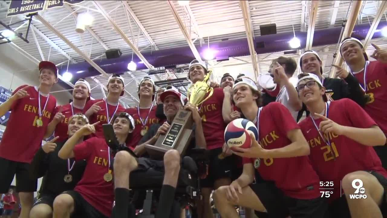 Fenwick High School boys volleyball team wins the Division II state championship