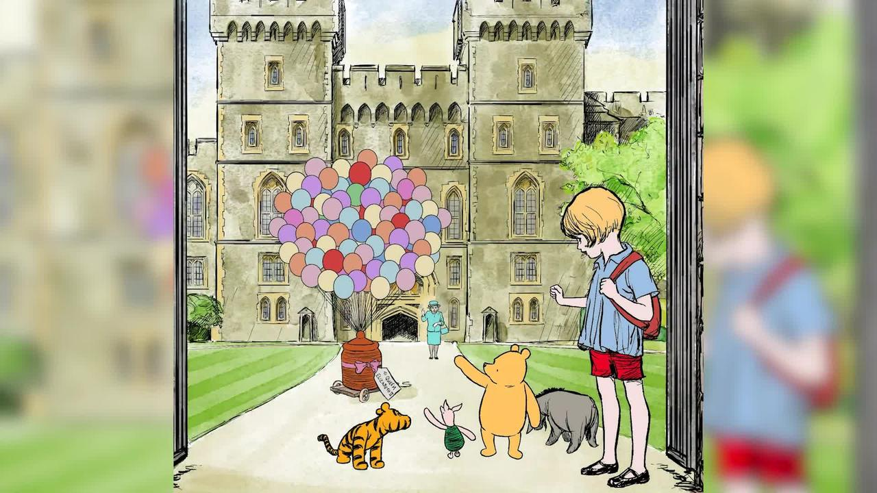Winnie the Pooh celebrates shared 95th birthday with the Queen