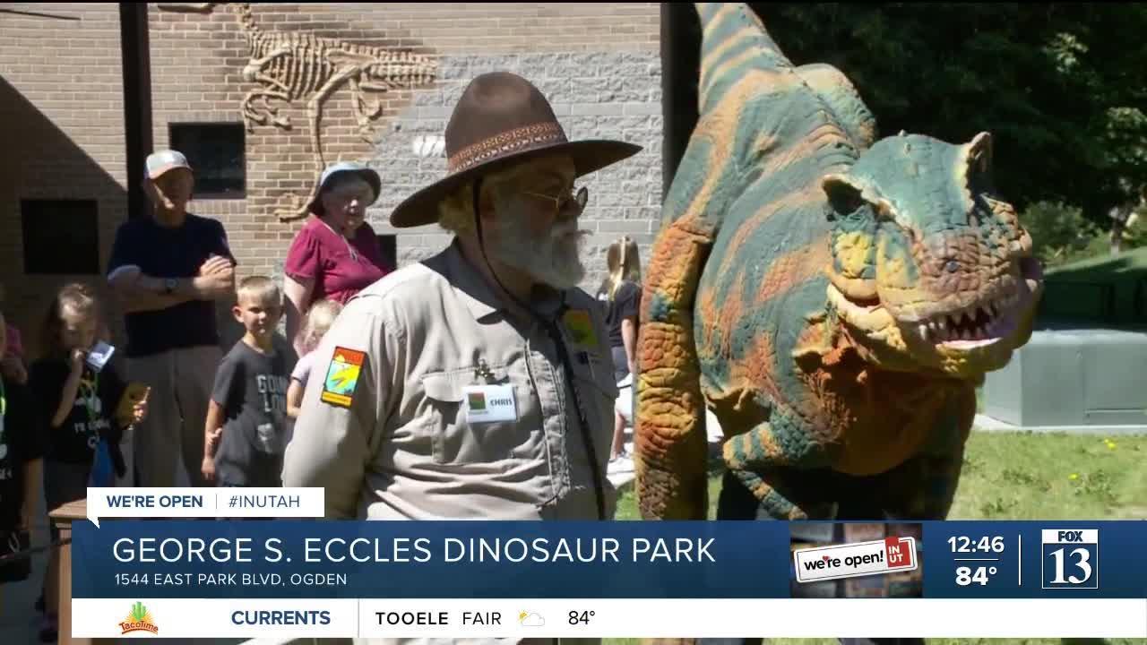 Budah goes prehistoric at Ogden's Eccles Dinosaur Park-3