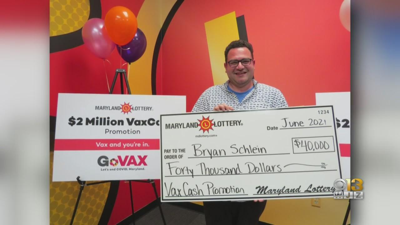 Towson Resident, Healthcare Worker Bryan Schlein Claims $40,000 VaxCash Prize