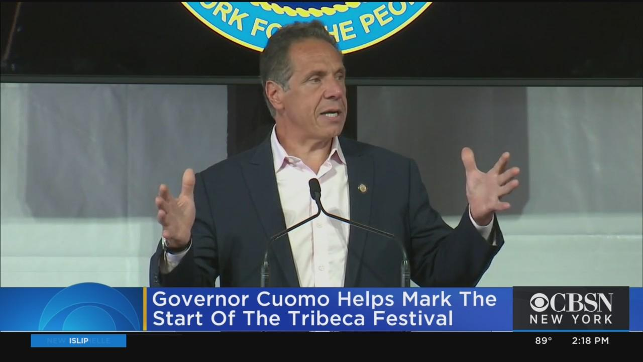 Governor Cuomo Helps Mark The Start Of The Tribeca Festival
