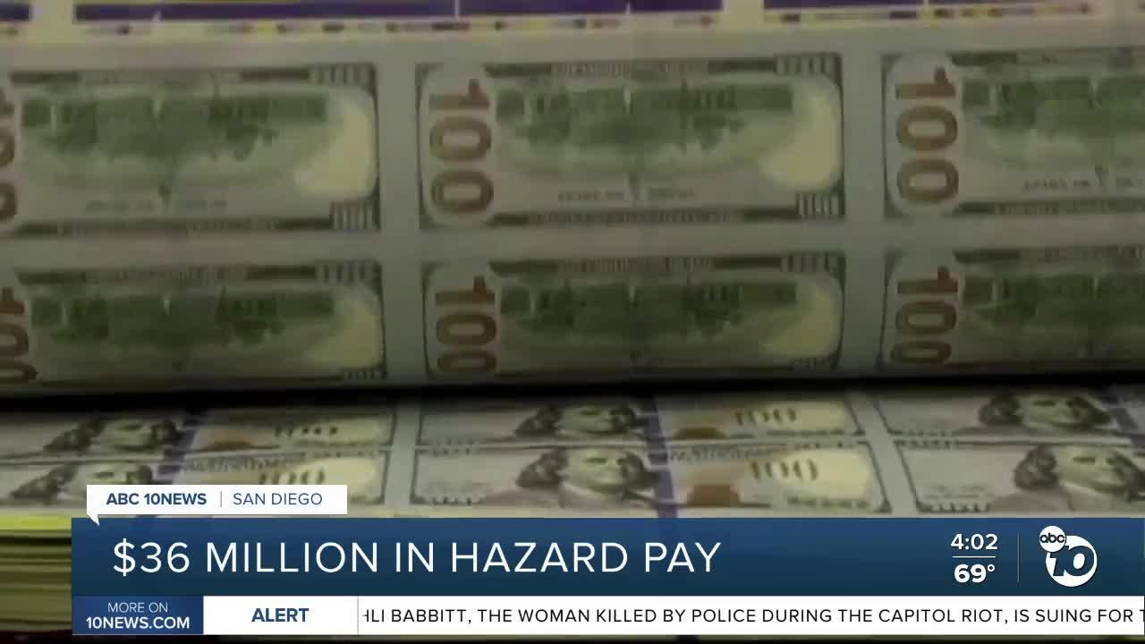 $36 million set aside for hazard pay