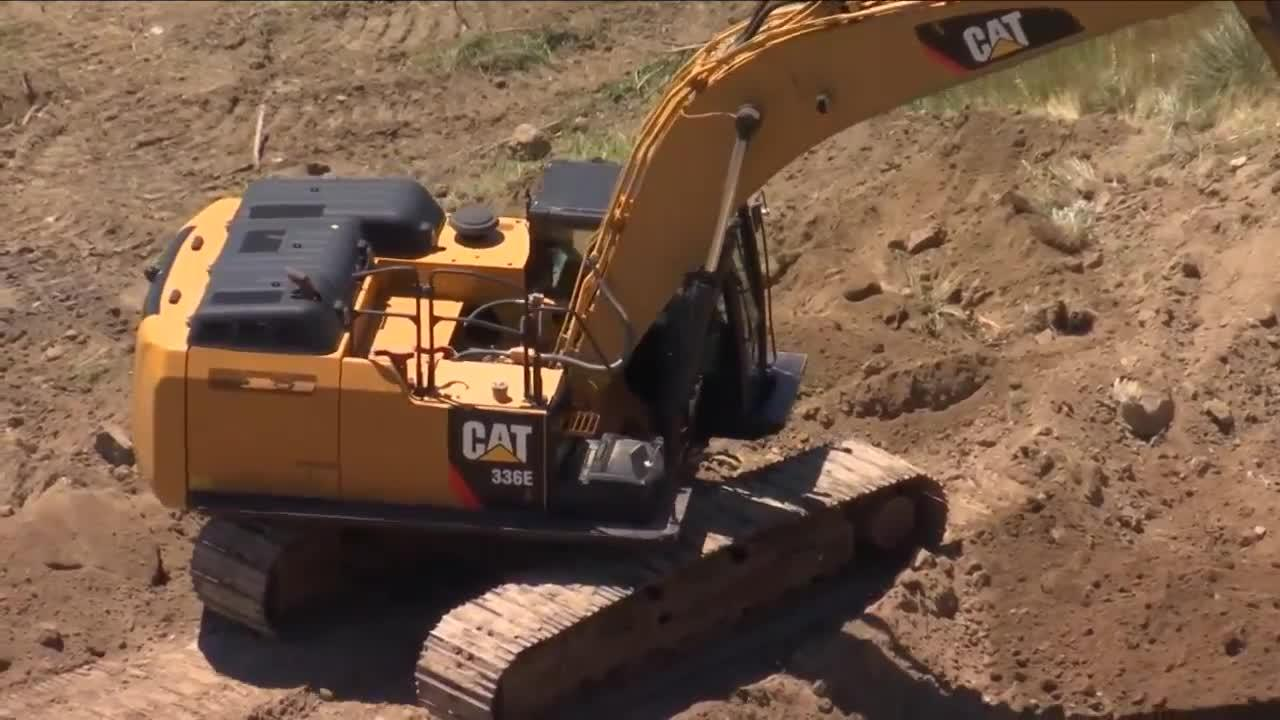 Billings crews fixing unstable soil on ditch