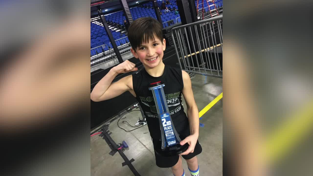 East Lansing girl looking to win at ninja competition