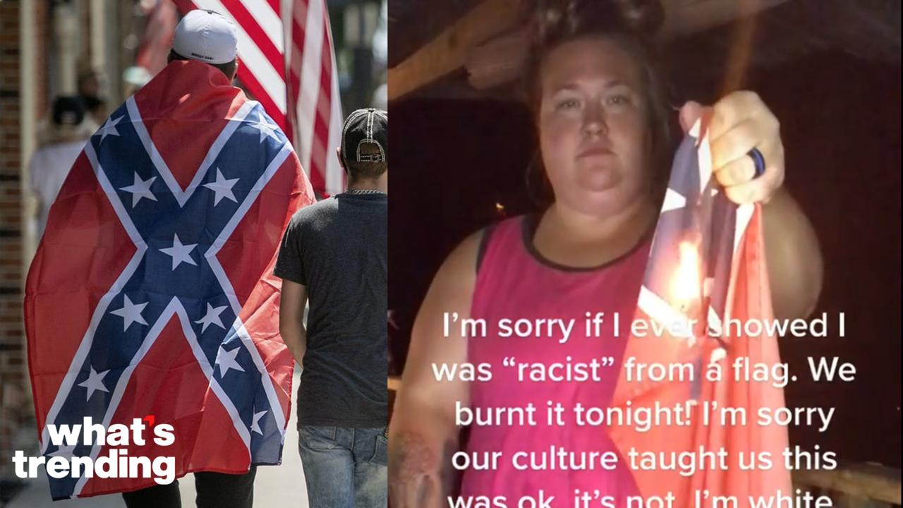 Viral TikTok Shows White Woman Burning Confederate Flag, Explained