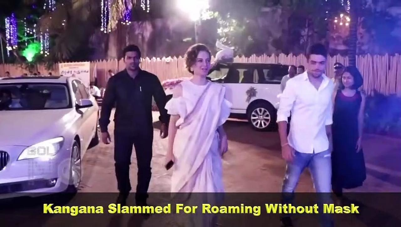 Netizens Say ARREST Kangana After She Was Seen Without Mask During Her Mumbai Office Visit