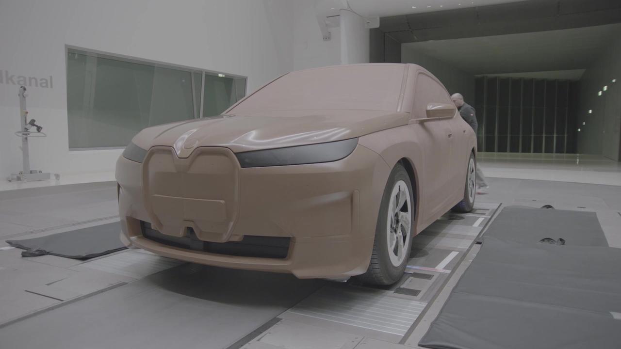 BMW iX - Development - Wind tunnel test
