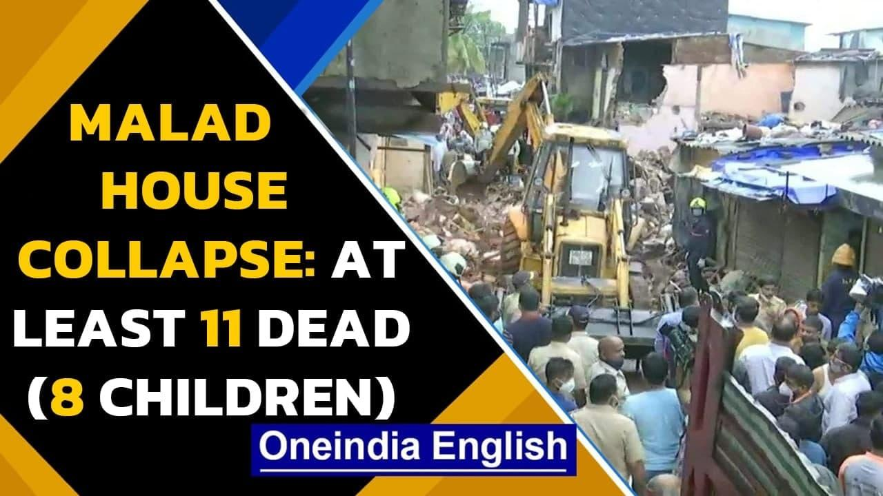 Malad House Collapse: Four-storey house collapsed on another structure, 11 dead | Oneindia News