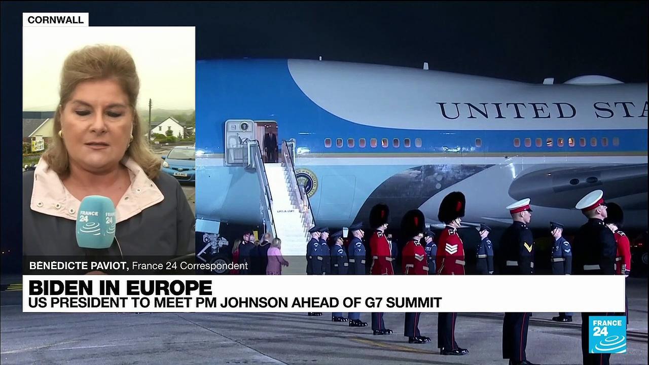 US President meeting UK PM Johnson ahead of G7 summit