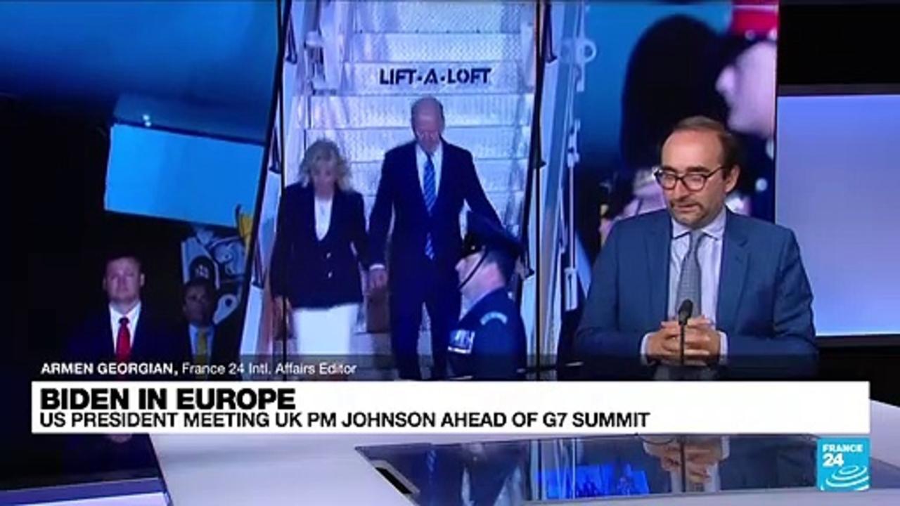 Biden meets UK PM Boris Johnson as first overseas tour begins
