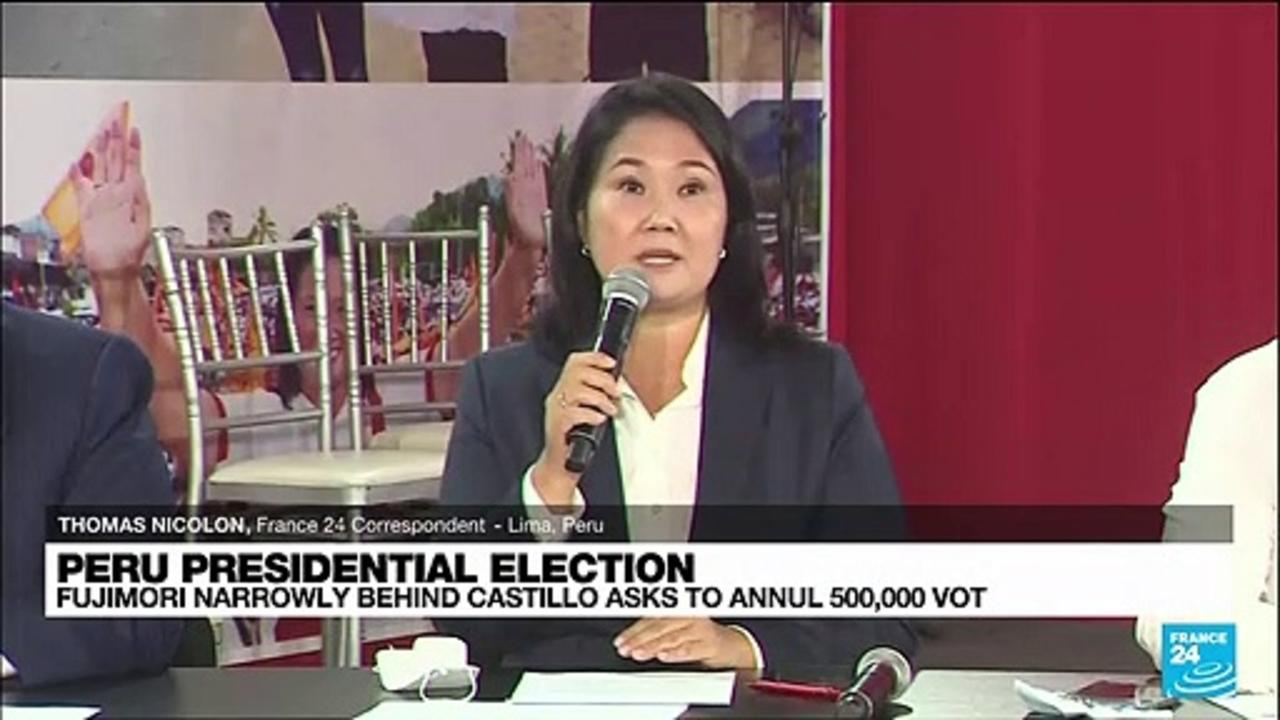 Castillo assumes 'victory' in Peru election, rival Fujimori wants votes anulled