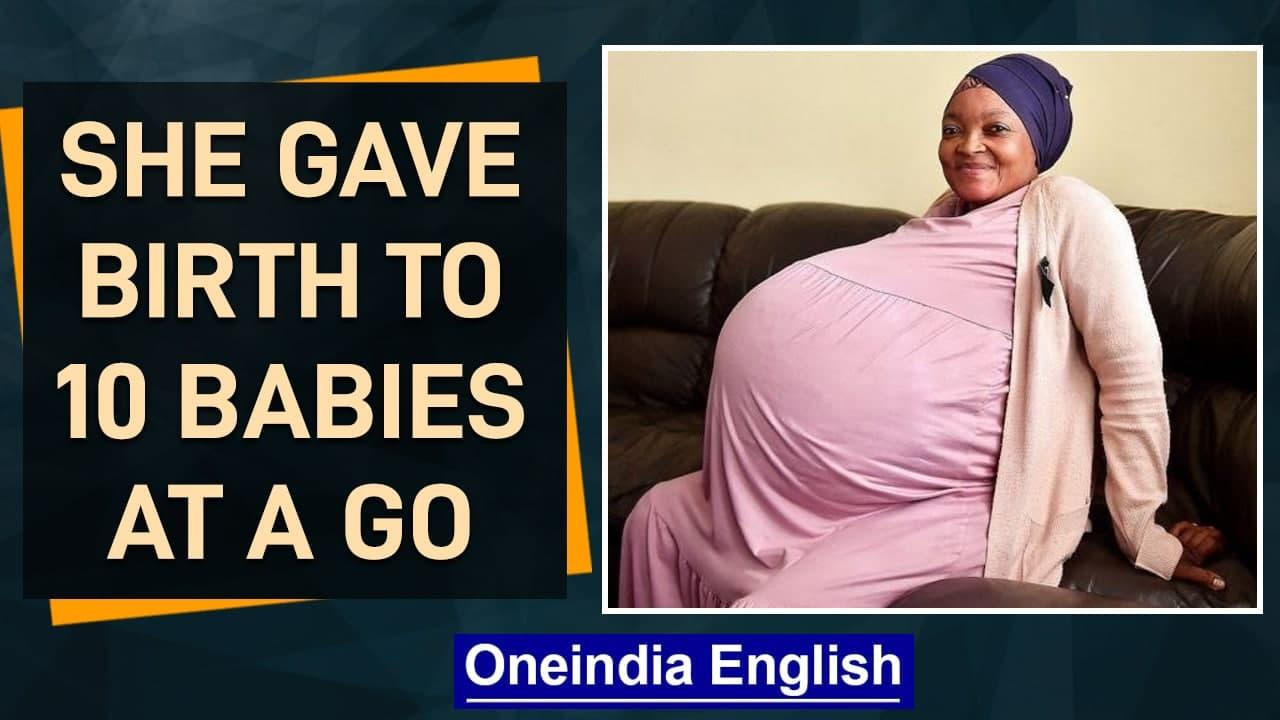South Africa: Woman delivers 10 babies at one go, setting a record | Oneindia News
