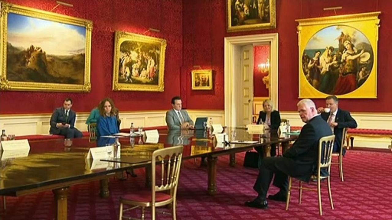 Prince Charles meets CEOs and politicians