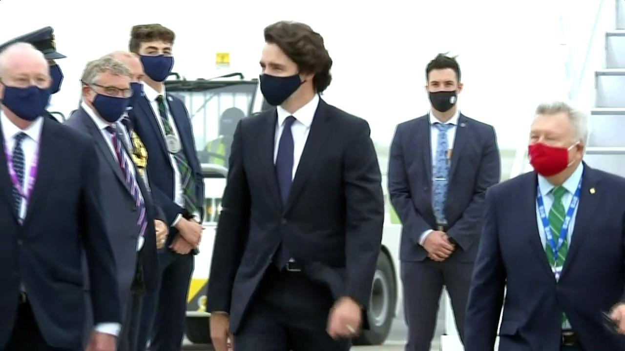 Trudeau touches down in Cornwall