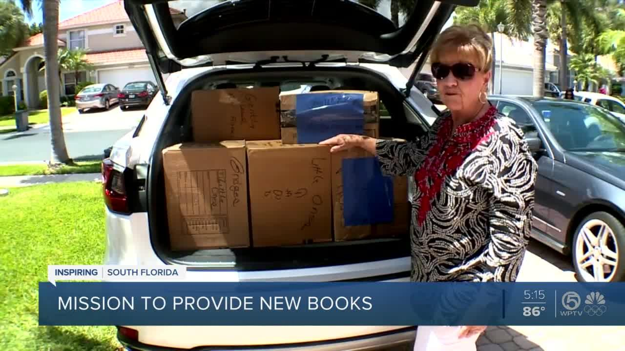 Jupiter woman delivers books to children in need