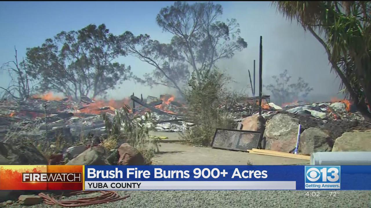 Intako Fire Burns 900 Acres In Yuba County