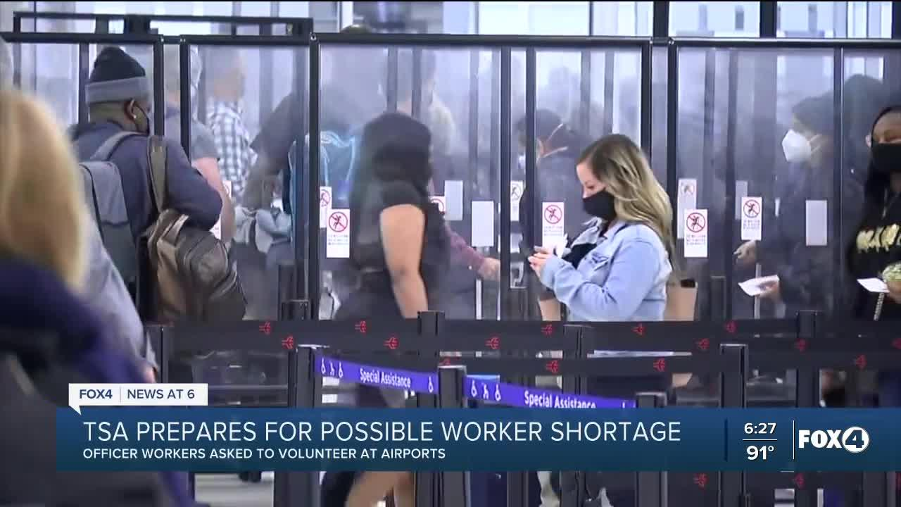 TSA preparing for increased summer travel during worker shortages