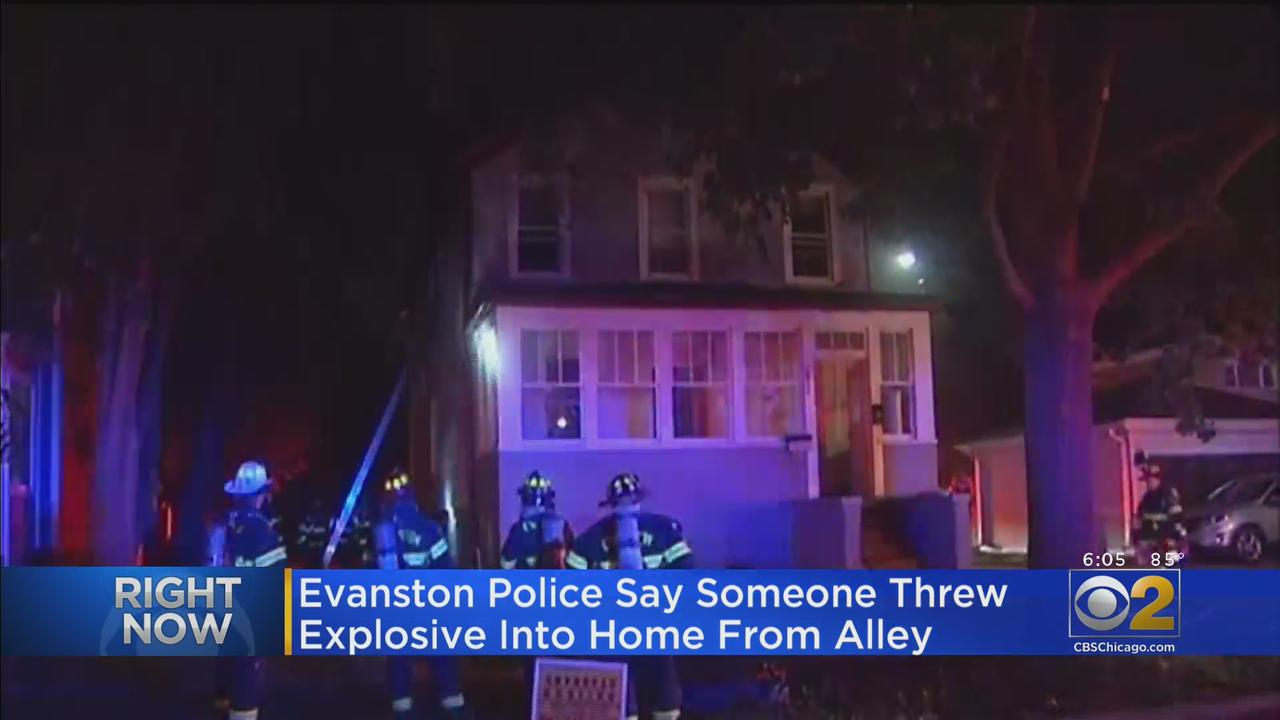 Evanston Police Say Someone Threw Explosive Into Home From Alley