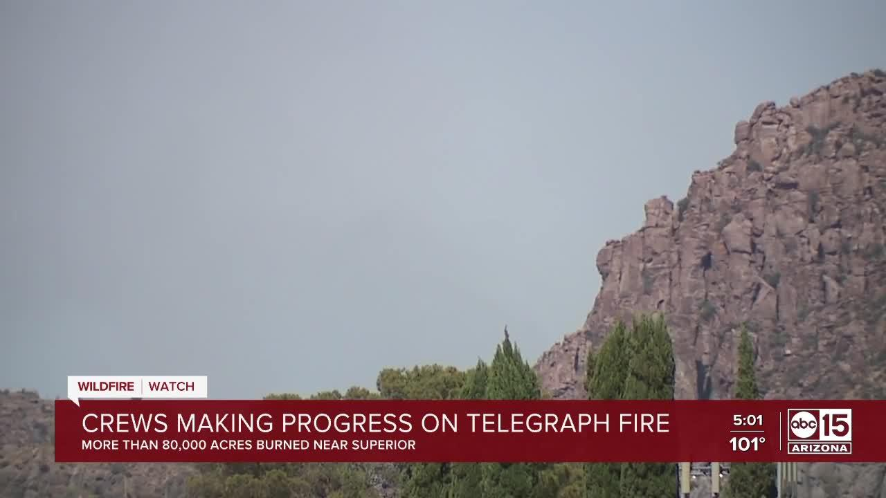 Crews making progress on Telegraph Fire