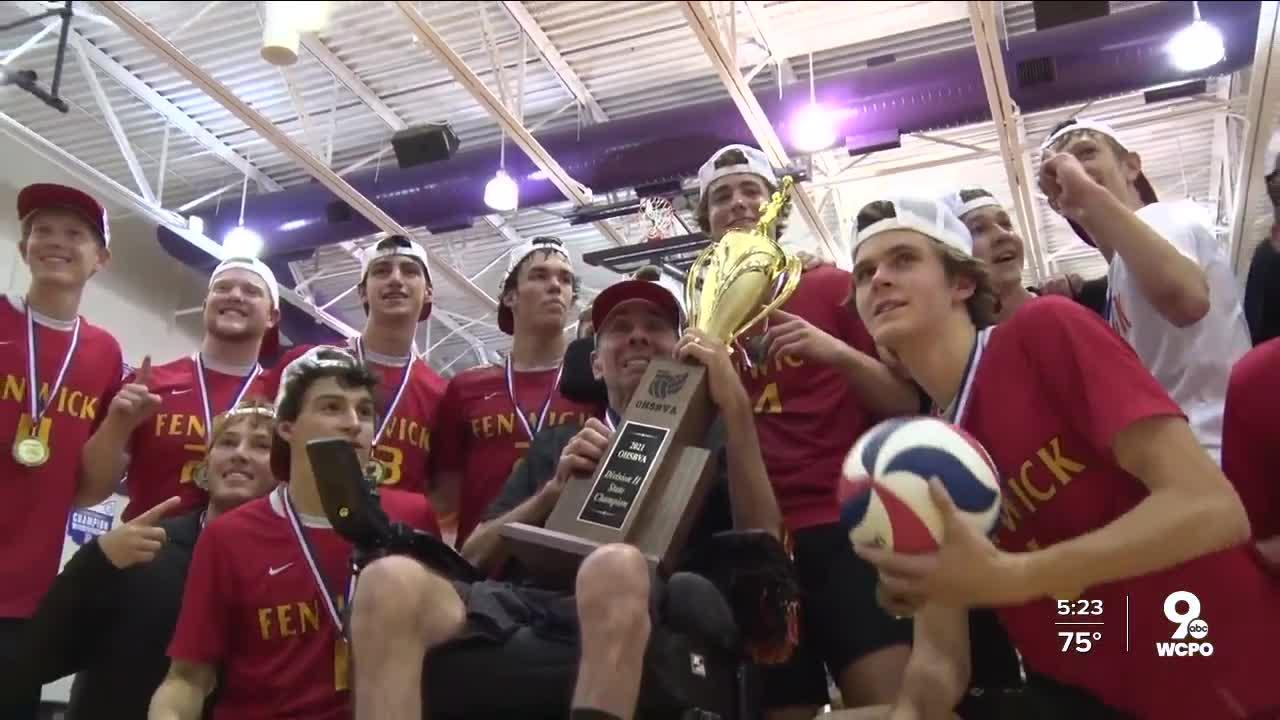 Coach with ALS inspires volleyball team to win state title