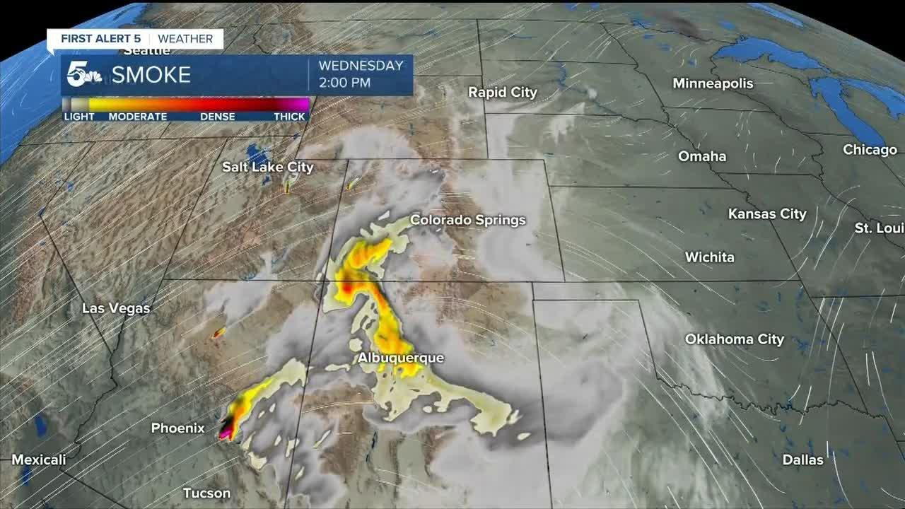 Wildfires ramp up in the southwest, bringing smoke to Colorado