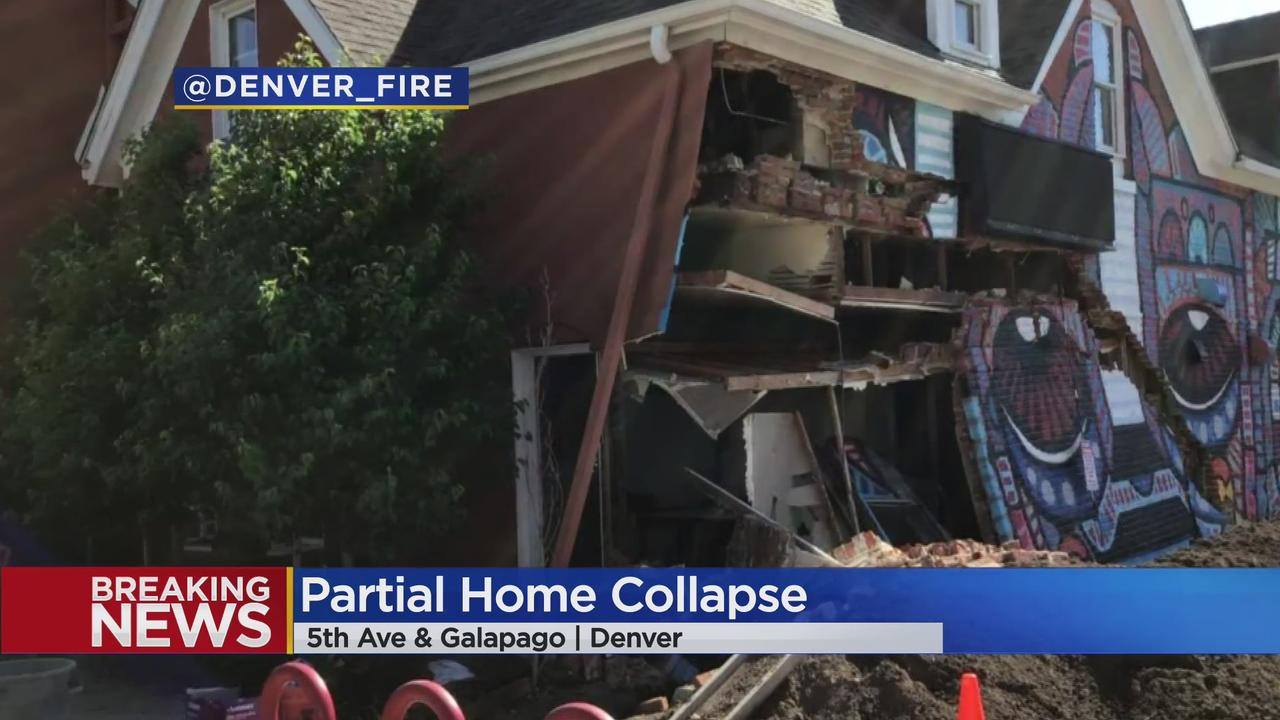 Denver Firefighters Investigate Partial Home Collapse