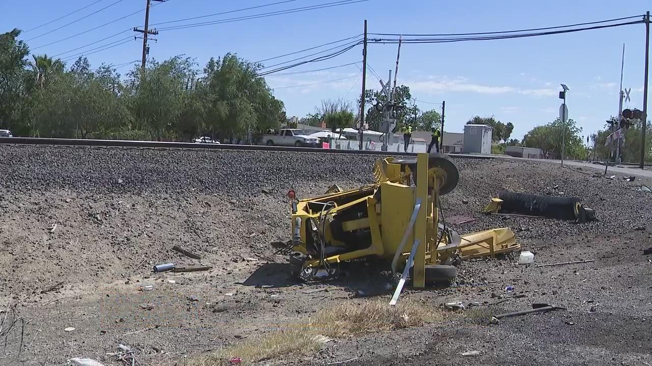 CHP: Man killed after street sweeper hit by train in Tracy