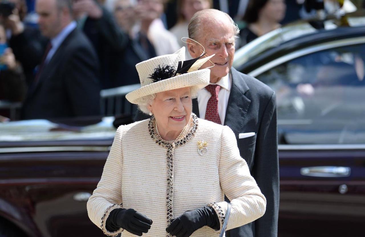 Queen plants The Duke of Edinburgh Rose to mark Prince Philip's 100th birthday