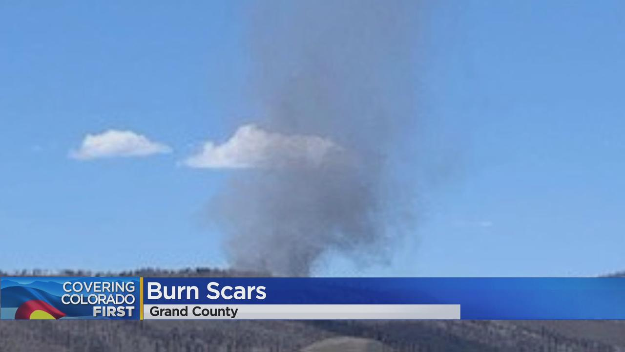 Ash And Dust Devil Spotted In East Troublesome Fire Burn Scar