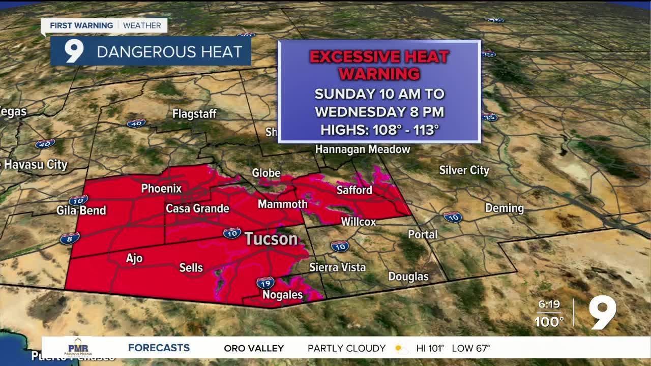 Excessive Heat Warnings go into effect Sunday morning
