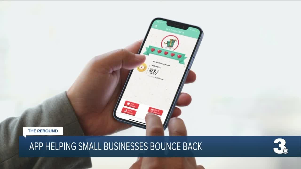 Small businesses promoting LOVEVA app offering rewards for shopping local