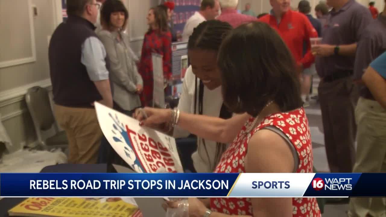 Ole Miss Rebels coaches visit Jackson