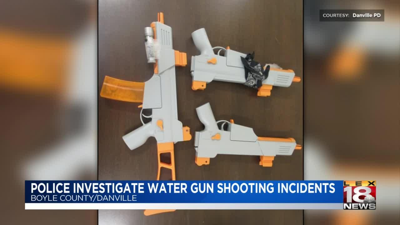 Danville police investigating water gun shooting incidents