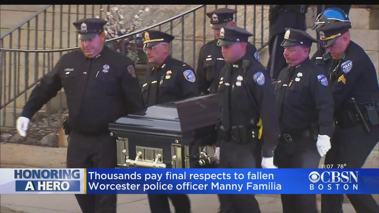 Thousands Attend Wake For Worcester Police Officer Manny Familia