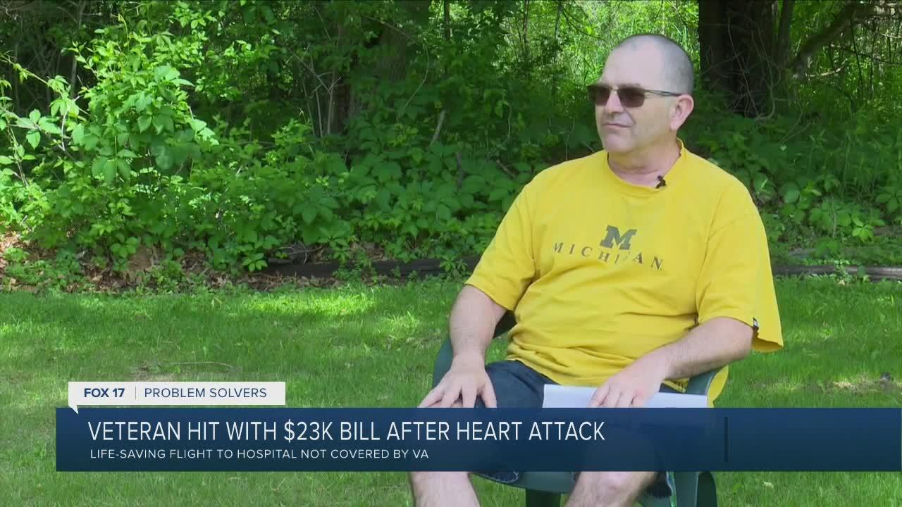 Veteran hit with $23K bill after heart attack