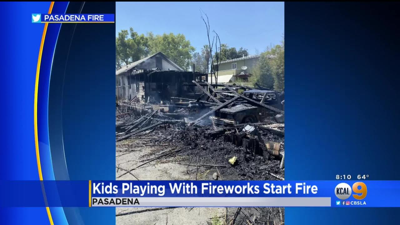 Investigators: Fire That Destroyed Pasadena Home, 6 Cars Started By Fireworks
