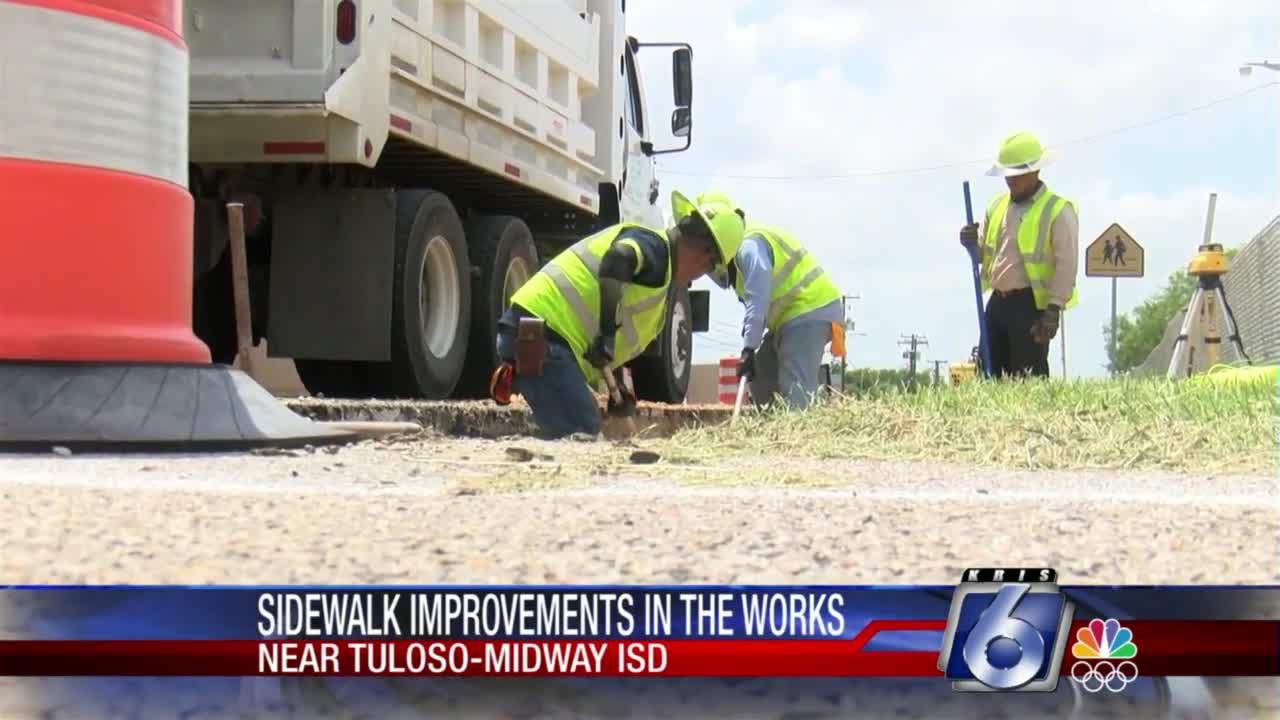 New sidewalk will increase safety at Tuloso-Midway Middle School