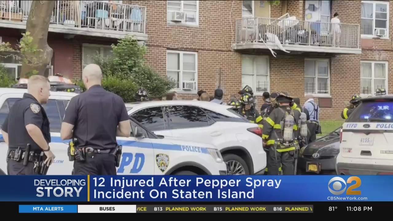 12 Injured After Pepper Spray Incident On Staten Island