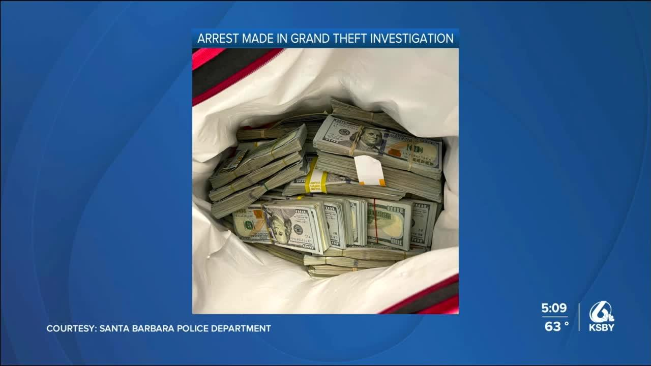 Arrest made in Santa Barbara grand theft investigation, hundreds of thousands of dollars found by police