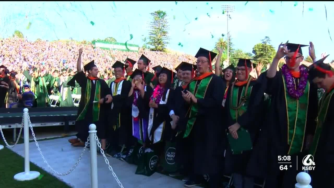 Cal Poly grads get to walk across the stage this weekend