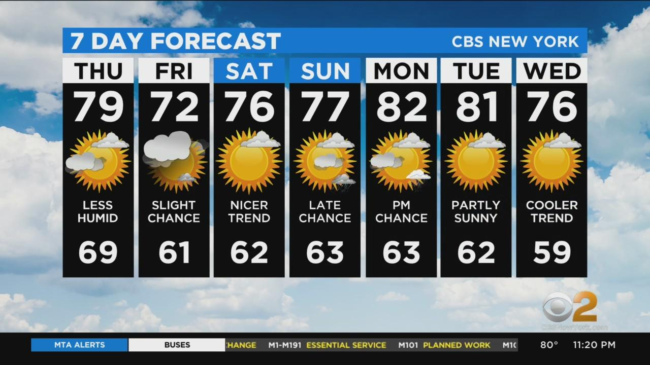 New York Weather: CBS2 6/9 Nightly Forecast at 11PM
