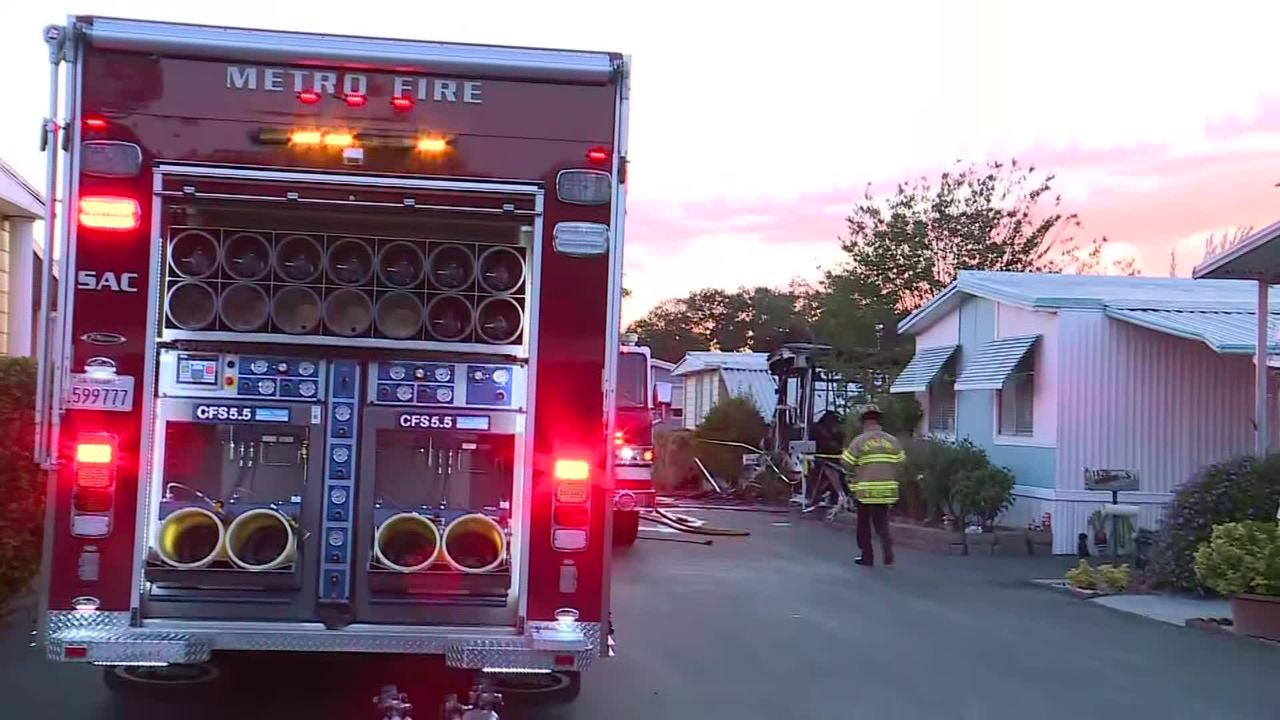 Raw: Fire At Citrus Heights Mobile Home Kills 1 Person