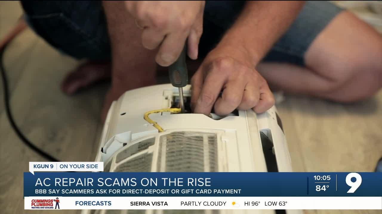 BBB: AC repair scams on the rise