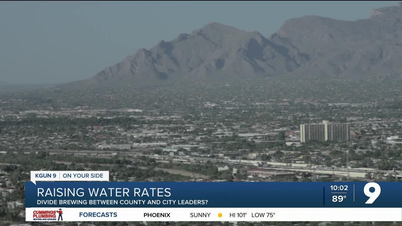 Tucson Water rates issue draws line between county and city leaders