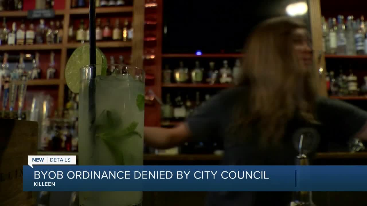 Killeen City Council denies BYOB ordinance