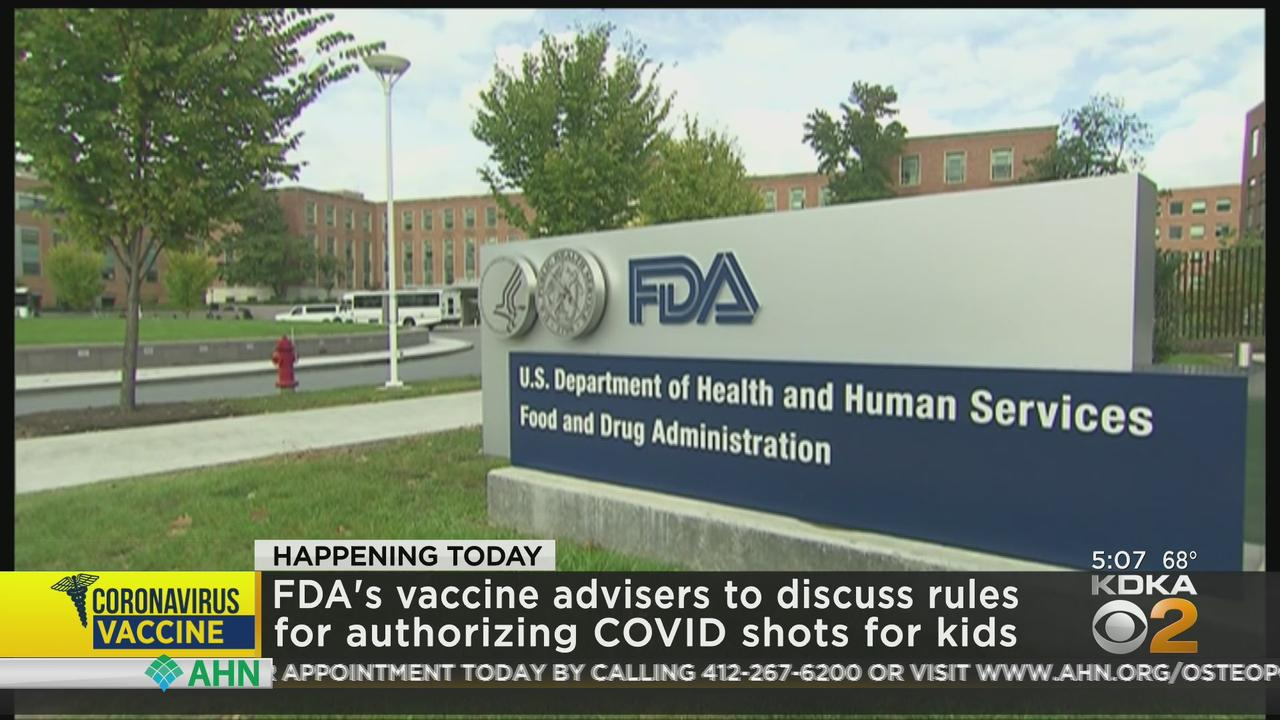 FDA Meeting To Discuss COVID-19 Vaccinations For Children