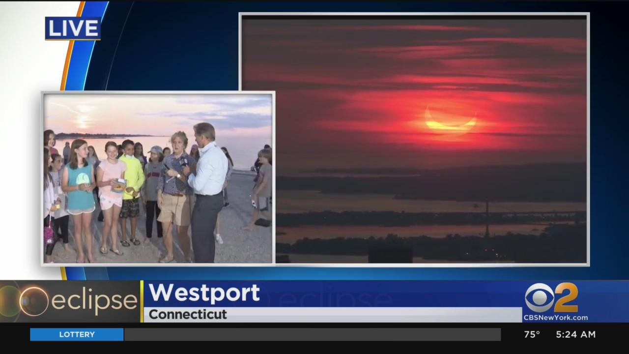 Students Gather For Sunrise Eclipse In Connecticut