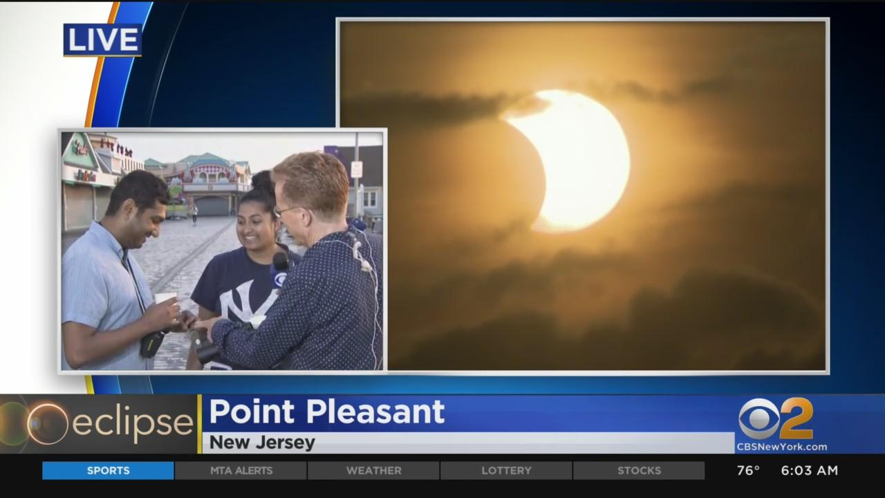 Early Risers Enjoy Rare Sunrise Eclipse On Jersey Shore